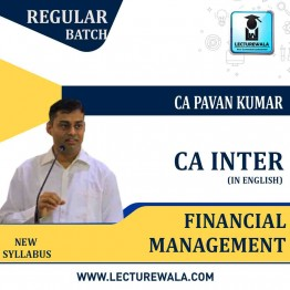 CA Inter Financial Management Regular course In English : Video Lecture + Study Material By CA PAVAN KUMAR  (For Nov. 2020)