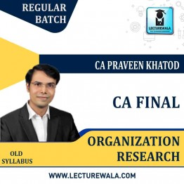CA Final Only QT / OR Regular Course : Video Lecture + Study Material By CA Praveen Khatod (For May 2021)
