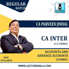 CA Inter Accounts And Adv. Accounts Combo By CA Parveen Jindal (For MAY 2021 TO NOV.2021)