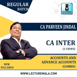 CA Inter Accounts And Adv. Accounts Combo Regular Course : Video Lecture + Study Material By CA Parveen Jindal (For May 2021 & Nov. 2021)