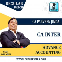 CA Inter Advance Accounting Full Course by CA Parveen Jindal (For May / Nov. 2021 )