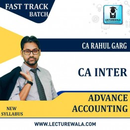 CA Inter Advance Accounting Crash Course : Video Lecture + Study Material By CA Rahul Garg (For Nov. 2021 & May 2022)