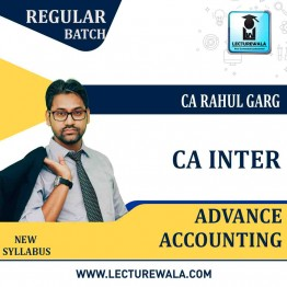 CA Inter Advance Accounts Regular Course : Video Lecture + Study Material by CA Rahul Garg (For May 2021 & Nov. 2021)