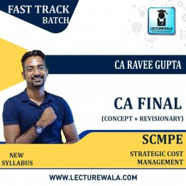CA Final SCMPE (Costing) Concept Booster Video Course New Syllabus : Video Lecture + E-CONTECT By CA Ravee Gupta (For Nov. 2020 & May 2021)