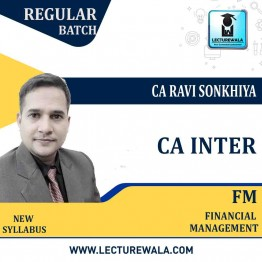 CA Inter FM Only Regular Course : Video Lecture + E Book By CA Ravi Sonkhiya (For May 2021 & Nov. 2020)