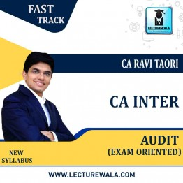 CA Inter Audit Exam Oriented Super 20 Crash Course : Video Lecture + Study Material By CA Ravi Taori (For May 2021 & Nov. 2021)