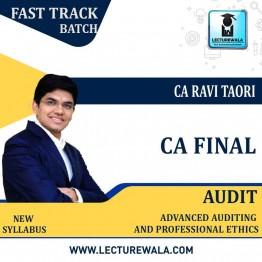 CA Final Audit Crash Course Super 25 : Video Lecture + Study Material By CA Ravi Taori (For Nov. 2021)