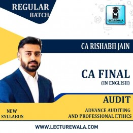 CA Final Audit (In English) New Syllabus Regular Course : Video Lecture + Studt Material By CA Rishabh Jain (For May/Nov. 2021)