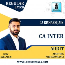 CA Inter Audit And Assurance Regular Course : Video Lecture + Study Material By CA Rishabh Jain (For Nov./May 21)