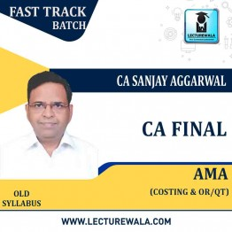 CA Final AMA Crash Course : Video Lecture + Study Material By CA Sanjay Aggarwal (For Nov 2021)