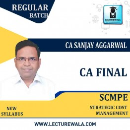 CA Final SCMPE Fresh Recording Pre Booking Regular Course : Video Lecture + Study Material By CA Sanjay Aggarwal (For Nov. 2021 to Nov. 2022)