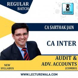 CA Inter Advance Accounting & Audit Regular Course Combo : Video Lecture + Study Material By CA Sarthak Jain (For Nov. 2020, May 2021 AND Nov. 2021)
