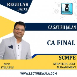 CA Final SCMPE (Latest Batch 21A) Regular Course New Syllabus : Video Lecture + Study Material By CA Satish Jalan (For Nov. 2021 & May 2022 Nov.2023 Exam)