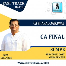 CA Final SCMPE New Syllabus Crash Course : Video Lecture + Study Material By CA Sharad Agrawal (For May 2021 & Nov. 2021)
