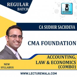 CMA Foundation Accounting, Law And Economics Regular Course Combo New Syllabus : Video Lecture + Study Material By CA Sudhir Sachdeva (For JUNE  2021 to DEC.2021)