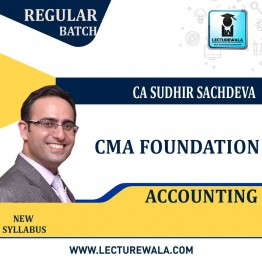 CMA Foundation  Accounting  Regular Course New Syllabus : Video Lecture + Study Material By CA Sudhir Sachdeva (For JUNE 2021 TO DEC.2021)