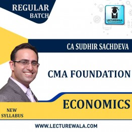 CMA Foundation Economics  Regular Course New Syllabus : Video Lecture + Study Material By CA Sudhir Sachdeva (For JUNE 2021 TO DEC.2021)