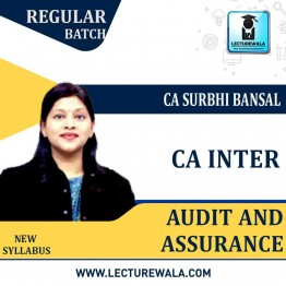 CA Inter Audit And Assurance Regular Course : Video Lecture + Study Material By CA Surbhi Bansal (For May 2021 & Nov. 2021)