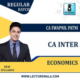 CA Inter Economics Only Regular Course : Video Lecture + Study Material By CA Swapnil Patni (For May 2021 & Nov. 2021)