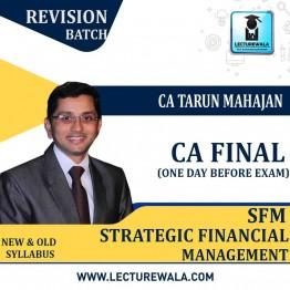 CA Final SFM QUICK Revision Old & New Syllabus : Video Lecture + Study Material By CA Tarun Mahajan (For May 2021 & Nov. 2021)