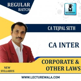 CA Inter Corporate & Other Laws Regular Course : Video Lecture + Study Material By CS Tejpal Sheth (For Nov. 2020 & May 2021)