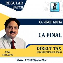 CA Final Direct Tax Summery Book By CA Vinod Gupta (For May / Nov. 2021)