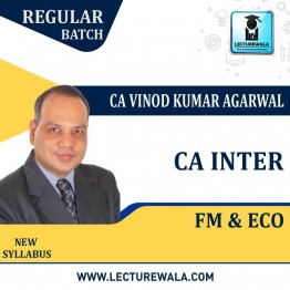 CA Inter FM ECO Regular course 1.2 Views : Video Lecture + Study Material By CA Vinod Kumar Agarwal (For Nov. 2020)