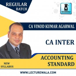 CA Inter Accounting Standard (Group-1) New Syllabus Regular Course : Video Lecture + Study Material By CA Vinod Kumar Agarwal (For Nov. 2021)