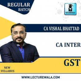 CA Inter GST Regular Course : Video Lecture + Study Material By CA Vishal Bhattad (For May / Nov. 2021)