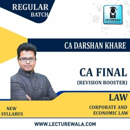CA Final Law Fast Track: Video Lecture + Study Material By CA Darshan Khare (For May 2021)