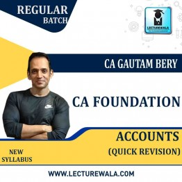CA Foundation Accounting Quick Revision Batch : Video Lecture + E Book By CFA Gautam Bery (For May / Nov. 2021)