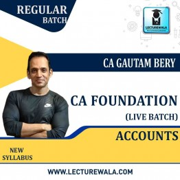 CA Foundation Accounts Live Regular Batch : Video Lecture + Study Material by ICM Amritsar Gautam Bery & Team (Nov. 2020 & May 2021)