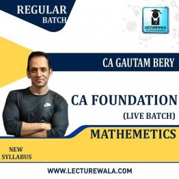 CA Foundation Mathematics, Statistics & Reasoning Live + Recorded Regular Batch : Video Lecture + Study Material by ICM Amritsar Gautam Bery & Team (May 2021 & Nov. 2021)