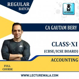 CBSE COMMERCE ICM 11th Class Accounting  Full Course : Video Lecture + E Book by CA Gautam Bery (For Exam 2021)
