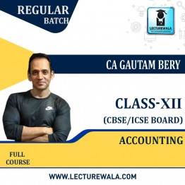 CBSE COMMERCE ICM 12th Class Accounting  Full Course : Video Lecture + E Book by CA Gautam Bery (For Exam 2021)