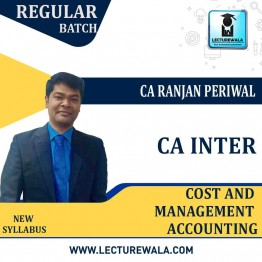 CA Inter Cost & Management Accounting New Syllabus : Video Lecture + Study Material by CA Ranjan Periwal (For May / Nov. 2021)