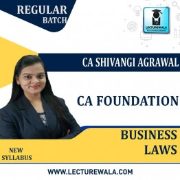 CA Foundation Business Laws Regular Course : Video Lecture + Study Material By CA Shivangi Aggarwal (For May 2021 & Nov. 2021)