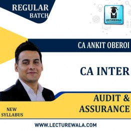 CA Inter Audit and Assurance Regular Course : Video Lecture + Study Material By CA Ankit Oberoi (For Nov. 2020)
