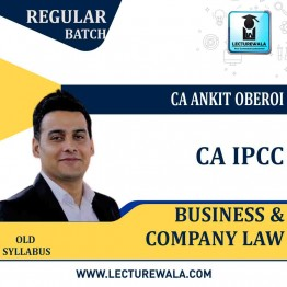 CA IPCC Business & Company Laws Regular Course : Video Lecture + Study Material By CA Ankit Oberoi (For Nov. 2020 & Onwards)