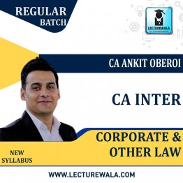 CA Inter Corporate & Other Law Regular Course : Video Lecture + Study Material By CA Ankit Oberoi (For Nov. 2020)