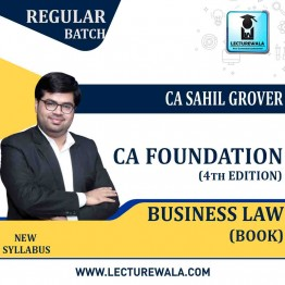 CA Foundation Business Laws (4th Edition) : Study Material By CA Sahil Grover (For Nov. 2020)