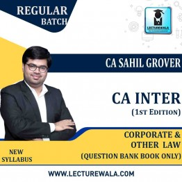 CA Inter Group-1 Corporate And Other Laws Question Bank Book Only (1st Edition) : Study Material By CA Sahil Grover (For Nov. 2020)