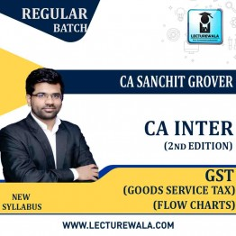 CA Inter Group-1 Goods And Service Tax Flow Charts Only (2nd Edition) : Study Material By CA Sanchit Grover (For Nov. 2020)