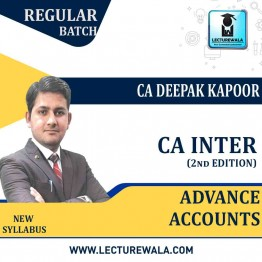CA Inter Group-2 Advance Accounting (2nd Edition) : Study Material By CA Deepak Kapoor (For Nov. 2020)