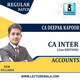 CA Inter Group-1 Accounts (2nd Edition) : Study Material By CA Deepak Kapoor (For Nov. 2020)