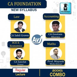 CA Foundation All Subject Books : Study Material By CA Gautam Khurana, CA Sahil Grover, CA Sanchit Grover & Mayank Maheshwari (For Nov. 2020)