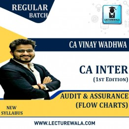 CA Inter Group-2 Audit & Assurance Flow Charts  (1st Edition) : Study Material By CA Vinay Wadhwa (For Nov. 2020)