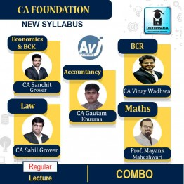 CA Foundation All Subject Combo Regular Course: Video Lectures + Study Materials by CA Sanchit Grover, CA Sahil Grover, CA Gautam Khurana, CA Vinay Wadhwa & Prof. Mayank Maheshwari (For May 2021)