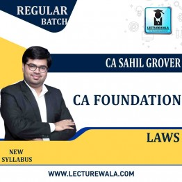 CA Foundation Law Regular Course: Video Lectures + Study Materials by CA Sahil Grover (For May 2021 & Nov. 2021)