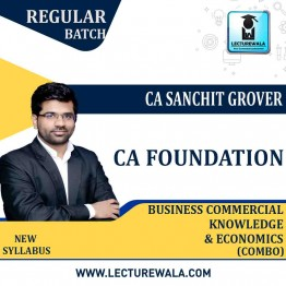 CA Foundation Economics & BCK (Combo) Regular Course: Video Lectures + Study Materials by CA Sanchit Grover (For May 2021 & Nov. 2021)